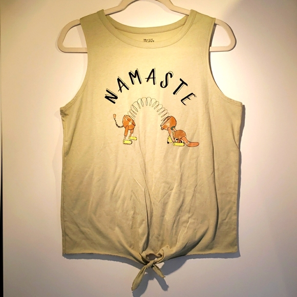 Disney Pixar Namaste Yoga Tie Shirt, Toy Story, L